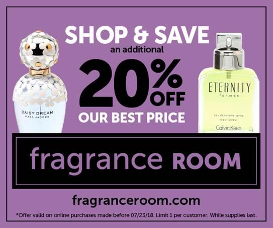 FrangranceRoom.com 20% Off Discount!