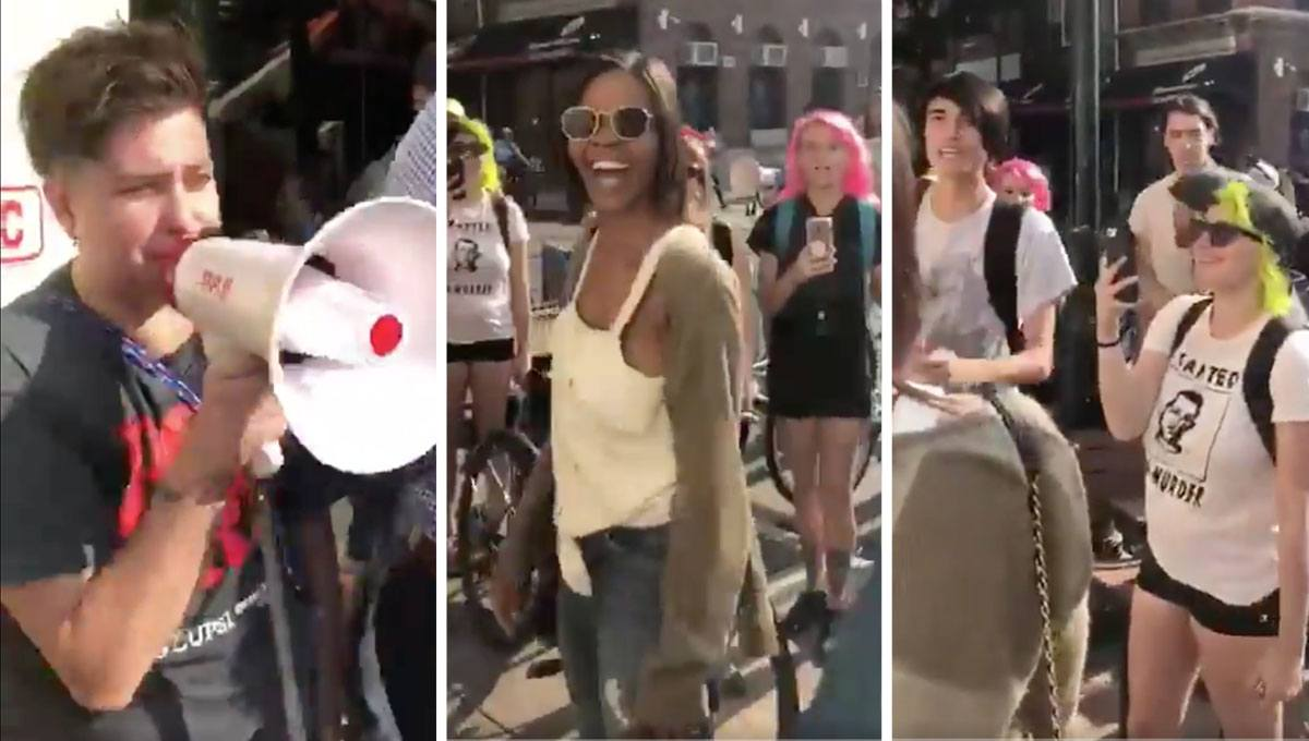 Candace Owens Attacked By Antifa Mob Stop White Supremacy