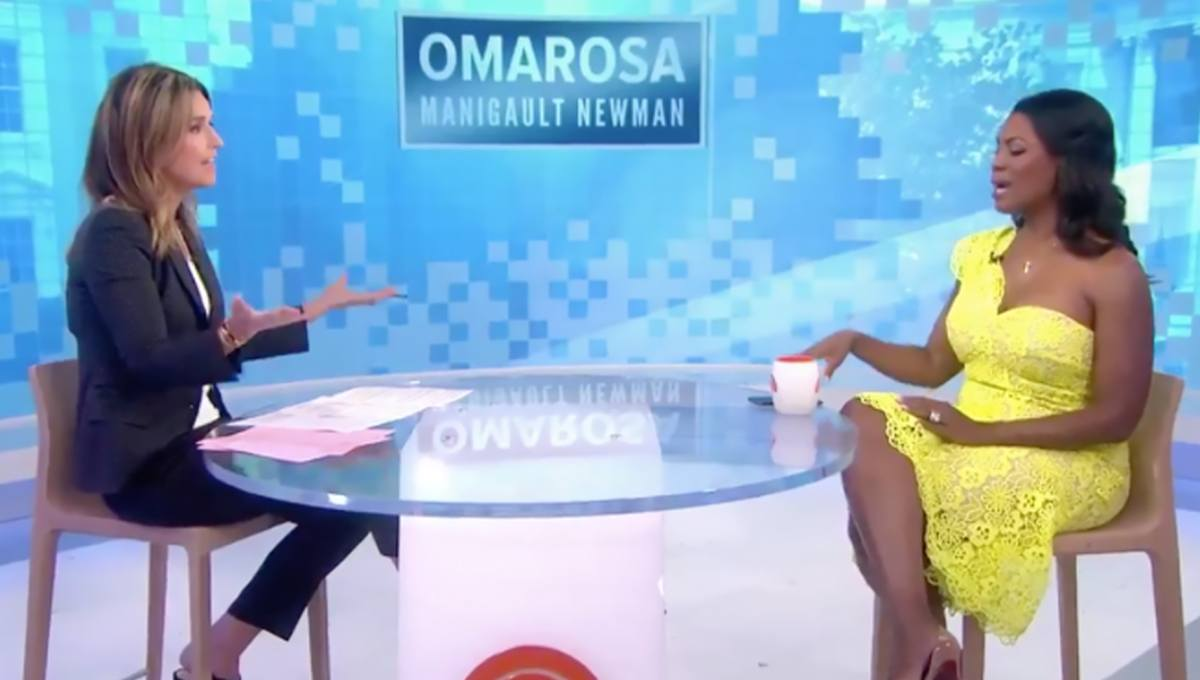 Omarosa Tells NBC Host to 'Calm Down,' Then Cuts Appearance Short During Dumpster-Fire Book Tour — Watch Here