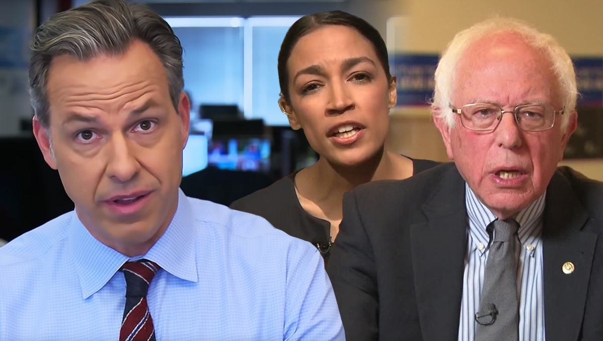 CNN Anchor Jake Tapper Rips into Claims by Bernie Sanders and Alexandria Ocasio-Cortez (Watch)