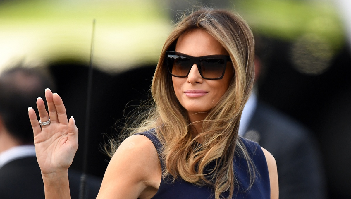 First Lady Melania Trump Laughs in the Face of Critics — and Beats Out Hillary Clinton