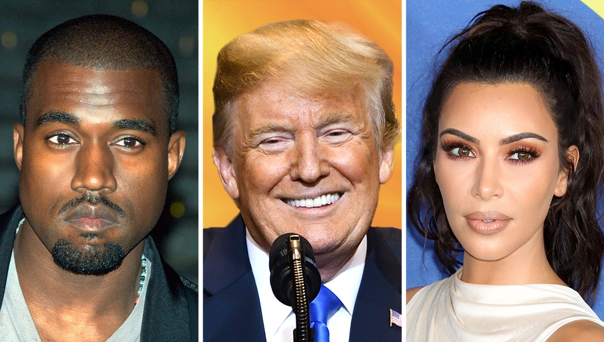 Donald Trump Praises Kanye West, Kim Kardashian and Jim Brown
