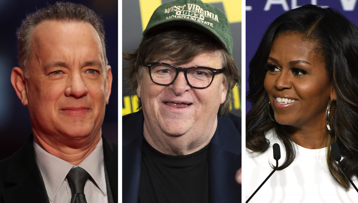 Michael Moore Says Tom Hanks and Michelle Obama Can Beat Trump in 2020