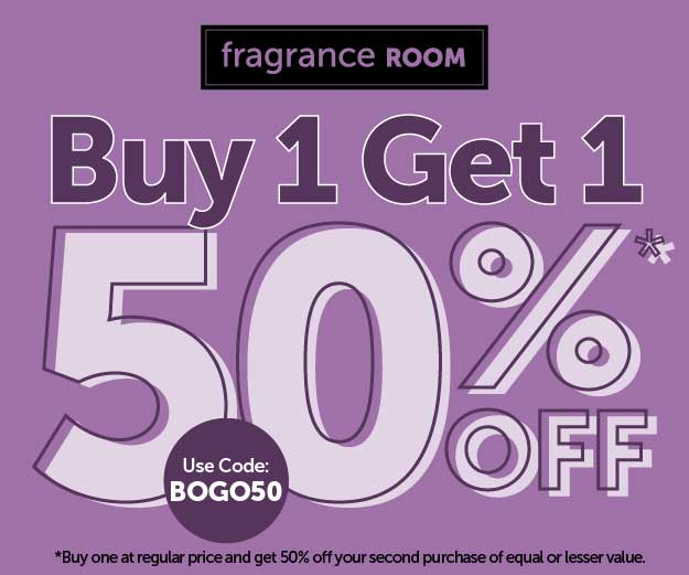 FrangranceRoom.com | Buy 1, get 1 50% off! Use the code BOGO50!