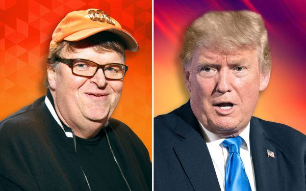 Michael Moore and Donald Trump