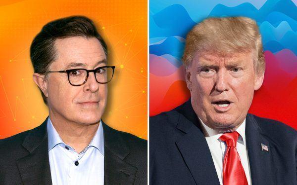 Stephen Colbert and Donald Trump