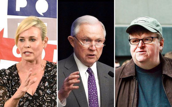 Jeff Sessions, Michael Moore and Chelsea Handler