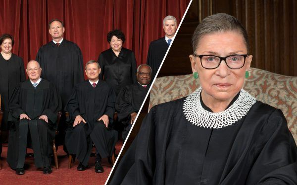 Ruth Bader Ginsberg and the United States Supreme Court Justices