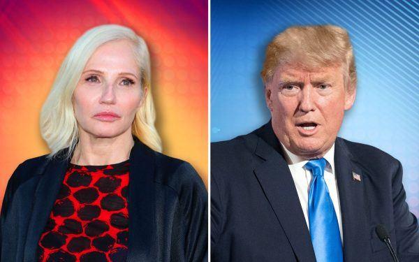 Ellen Barkin and Donald Trump