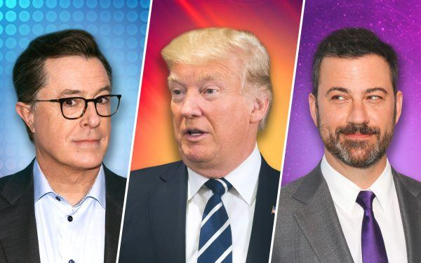 Stephen Colbert, Donald Trump and Jimmy Kimmel
