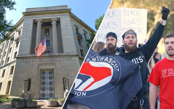 DOJ Building, Washington DC, Antifa protest