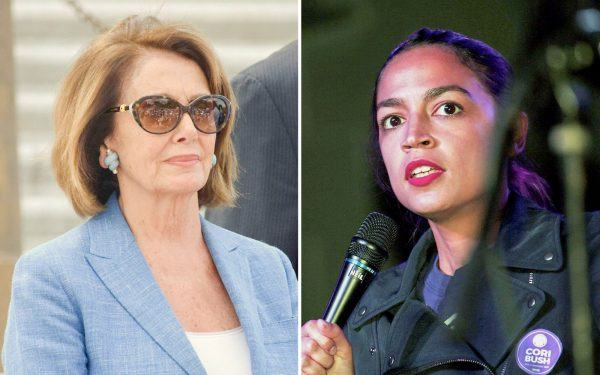 Nancy Pelosi and Alexandria Ocasio Cortez
