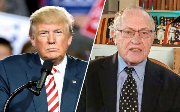 Alan Dershowitz and Donald Trump