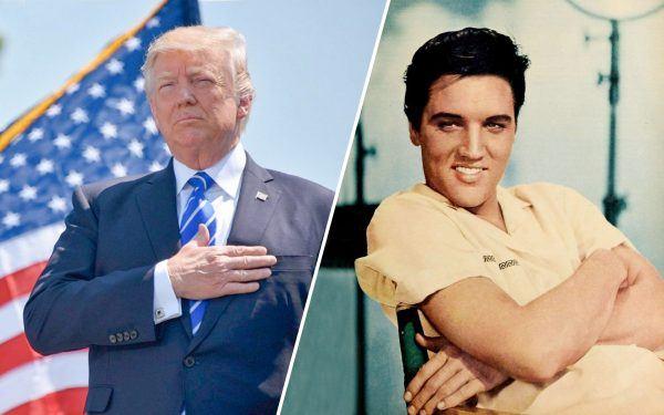 Donald Trump and Elvis Presley