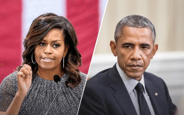 Michelle Obama and Barack Obama