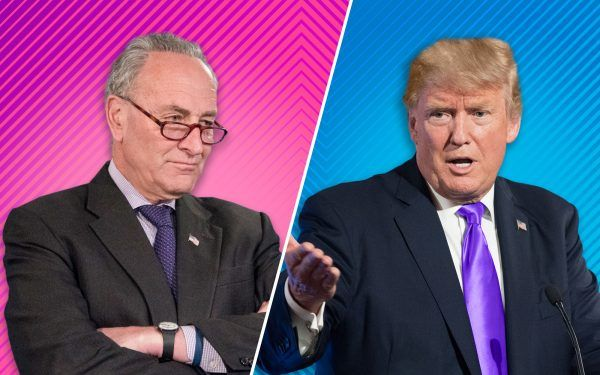 Donald Trump and Chuck Schumer