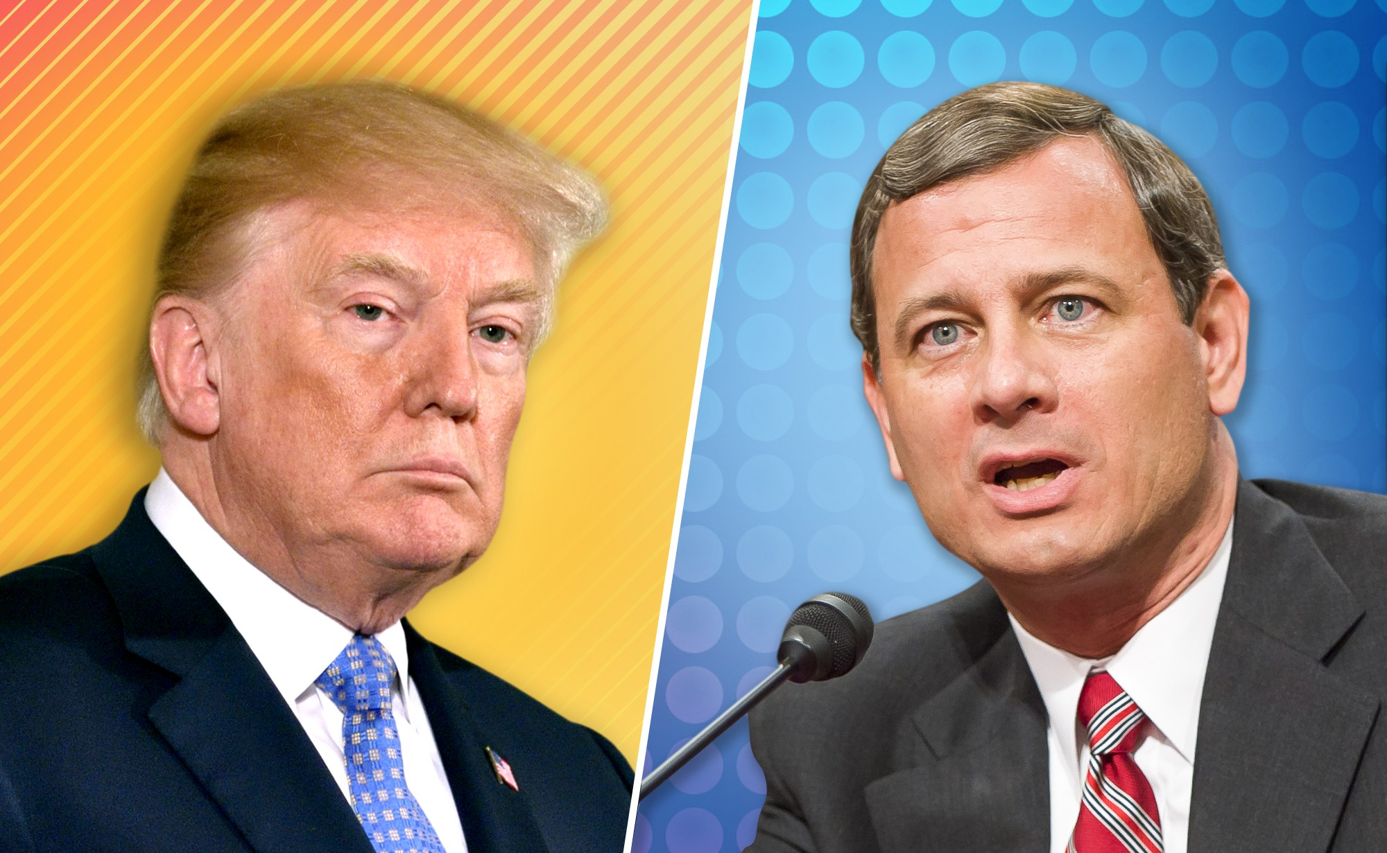 Donald Trump and John Roberts Feud Over 'Obama Judges ... | 2000 x 1231 jpeg 381kB