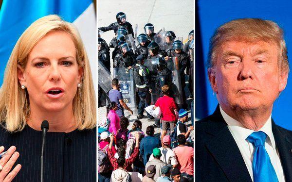 Kirstjen-Nielsen-Caravan-Donald-Trump