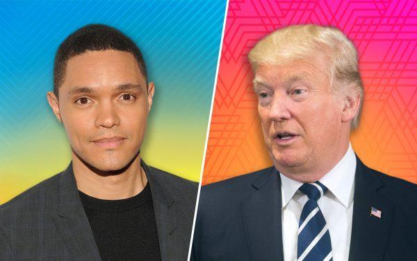 Trevor Noah and Donald Trump