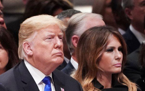 Donald-and-Melania-Trump-attending-George-H.W.Bush's-Funeral