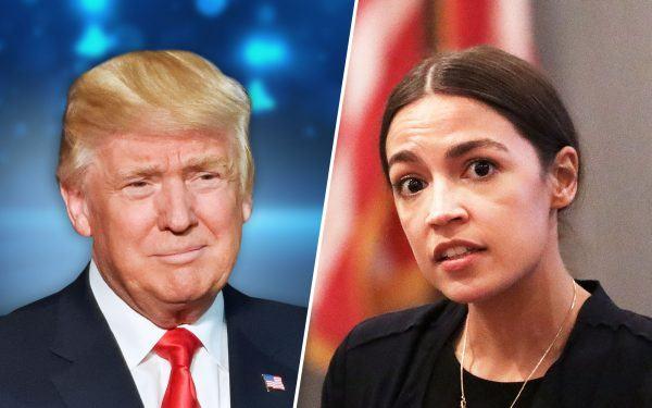 Donald-Trump-and-Alexandria-Ocasio-Cortez