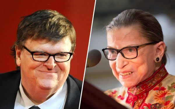 Michael-Moore-and-Ruth-Bader-Ginsburg-getty