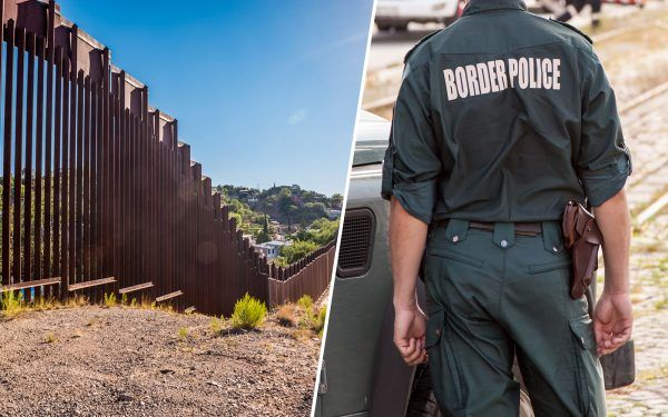 Border-wall-and-border-agent