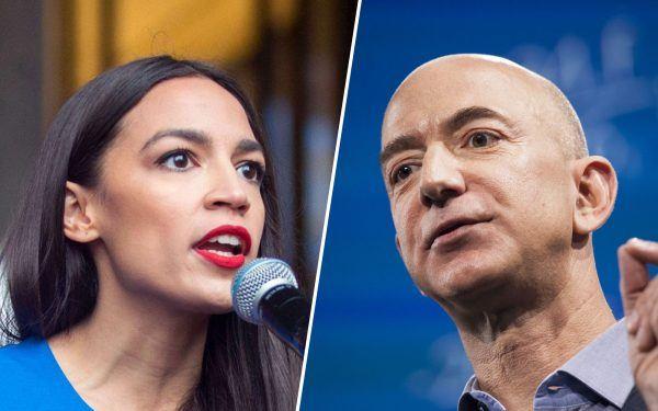 Alexandria-Ocasio-Cortez-and-Jeff-Bezos