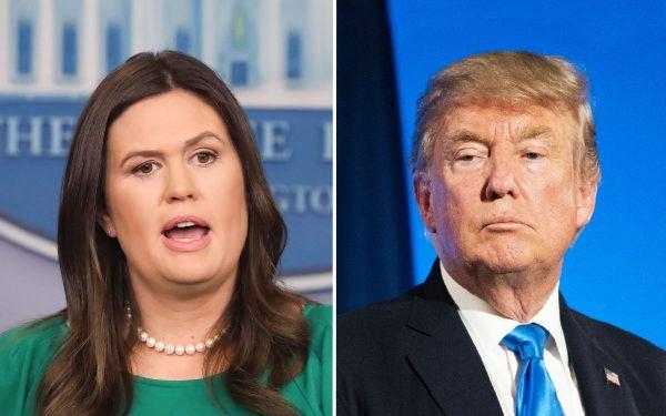 Sarah-Sanders-and-Donald-Trump