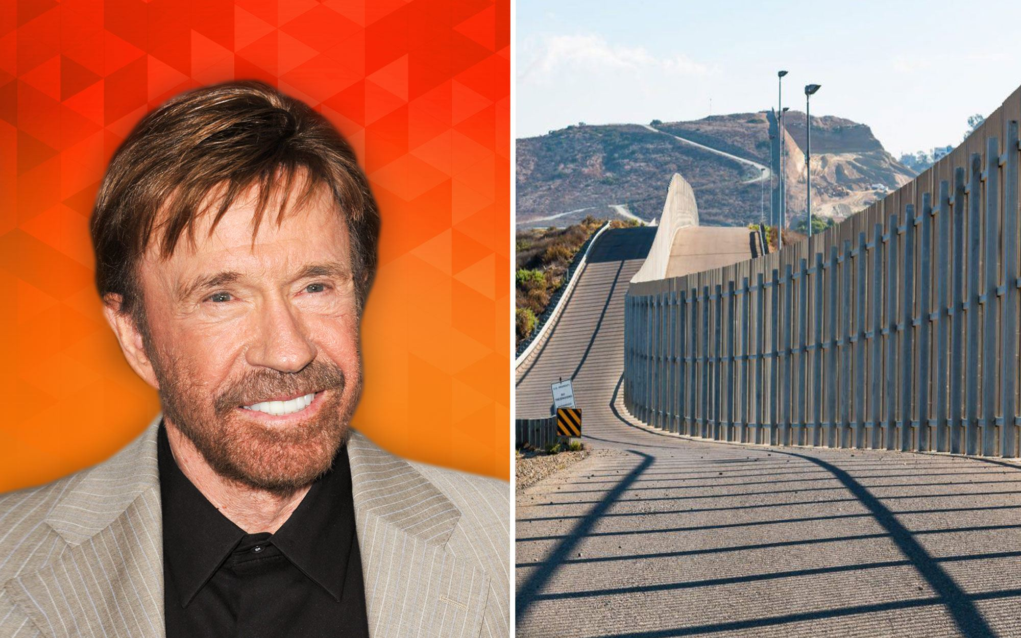 Chuck Norris Has an Idea for How to Pay for the U.S.-Mexico Border Wall
