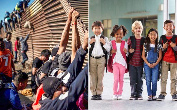 Illegal-immigrants-crossing-border-and-school-kids
