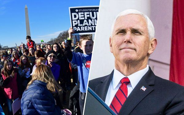 Mike Pence and March for Life attendees