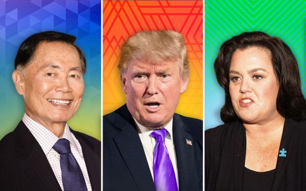 George-Takei-and-Donald-Trump-and-Rosie-O'Donnell
