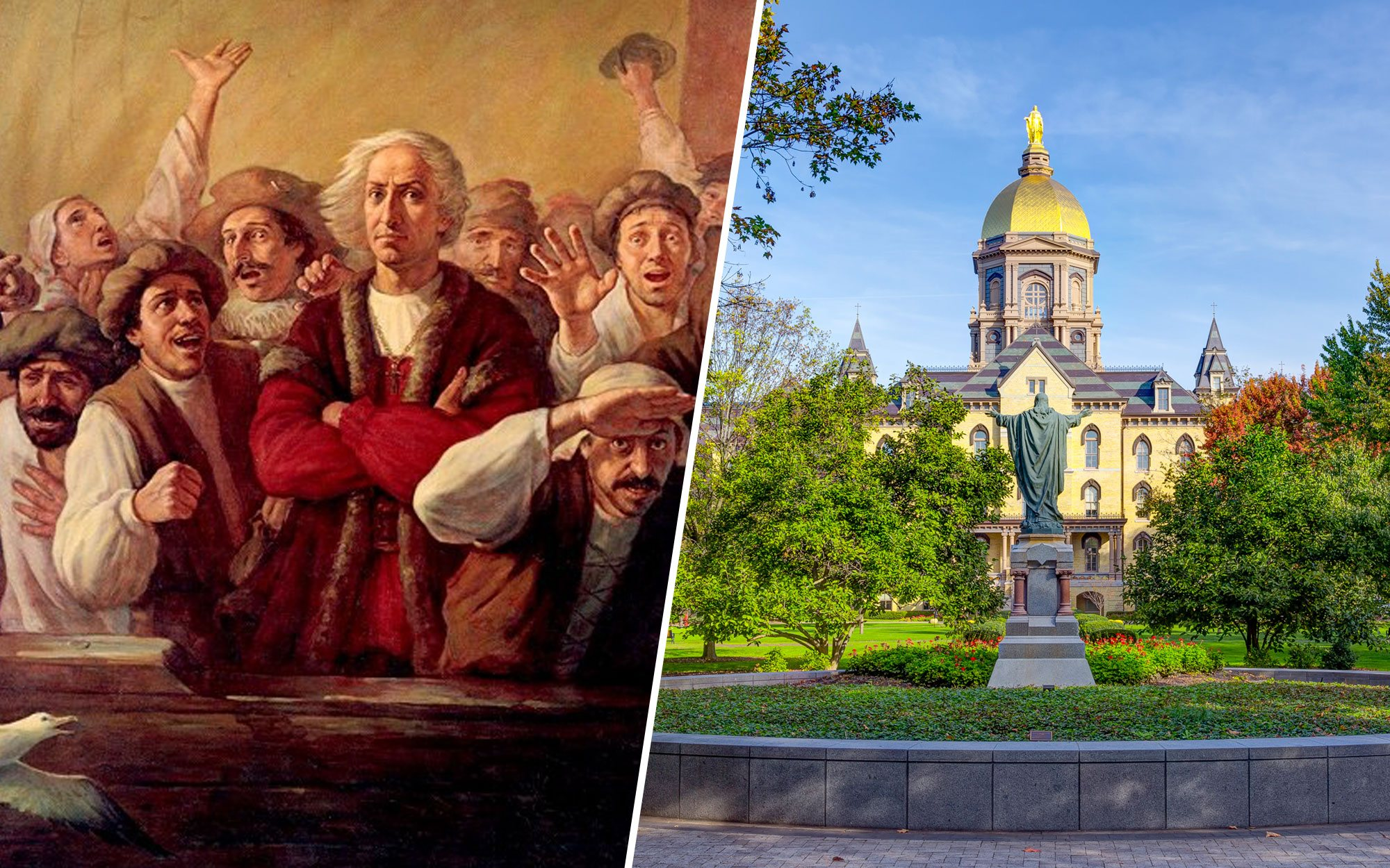 In the Rush to Erase History, Notre Dame Will Hide Its Christopher Columbus Artwork