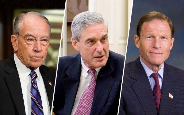 Chuck Grassley, Robert Mueller and Richard Blumenthal