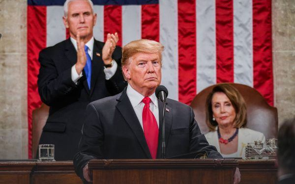 Donald Trump, Mike Pence and Nancy Pelosi