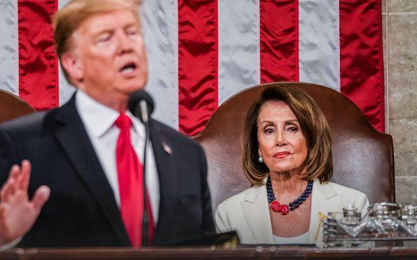 Nancy Pelosi and Donald Trump