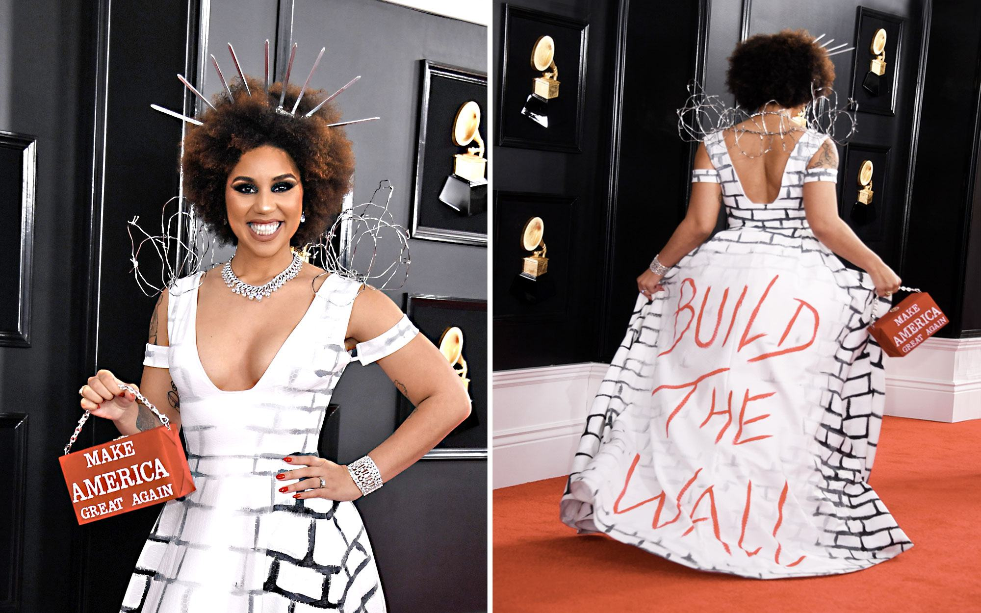 Exclusive: Joy Villa on Her Grammy Dress: 'I Want the Wall Built'