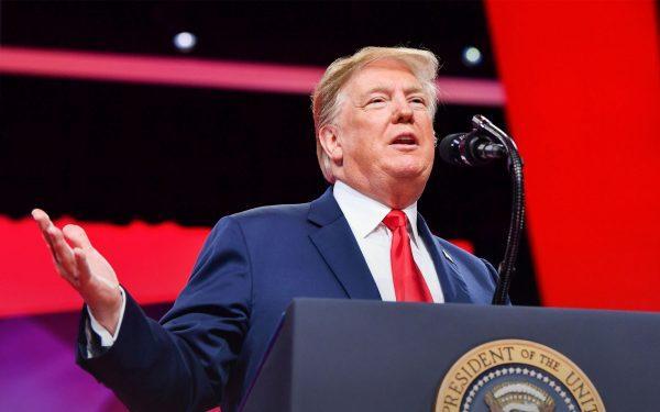 President Donald Trump at CPAC 2019