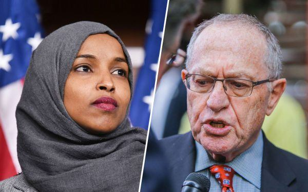 Ilhan Omar and Alan Dershowitz