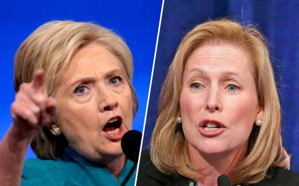 Hillary Clinton and Kirsten Gillibrand