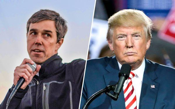 Beto O'Rourke and Donald Trump