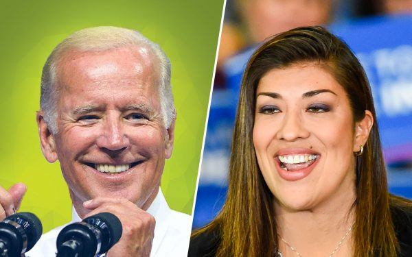 Joe Biden and Lucy Flores