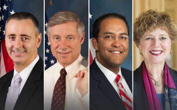 Brian Fitzpatrick of PA, Fred Upton of MI, Will Hurd of TX, and Susan Brooks of IN