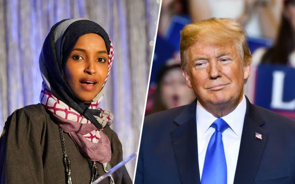 Donald Trump and Ilhan Omar
