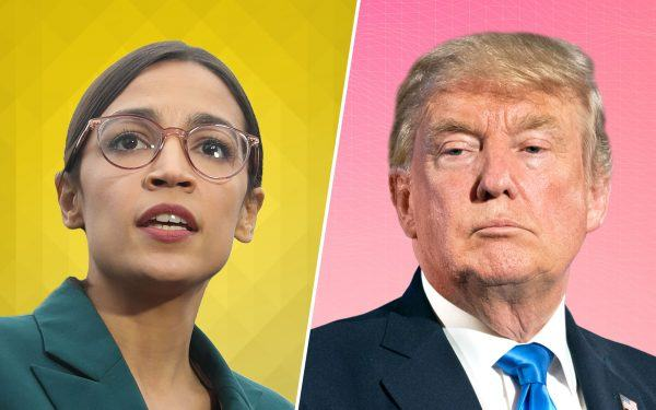 Democrat Alexandria Ocasio-Cortez (AOC) + Trump