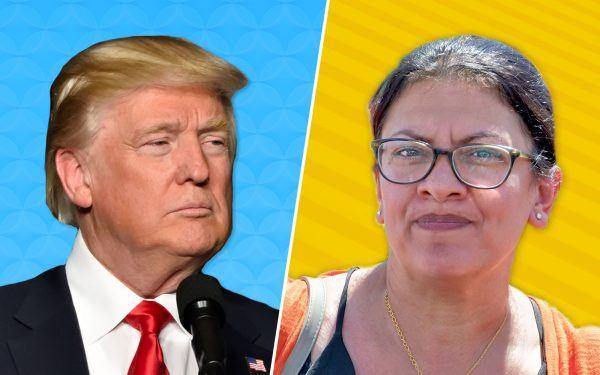 Democrat Rashida Tlaib + Donald Trump