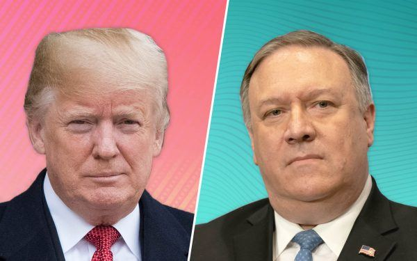 Trump + Sec. of State Mike Pompeo