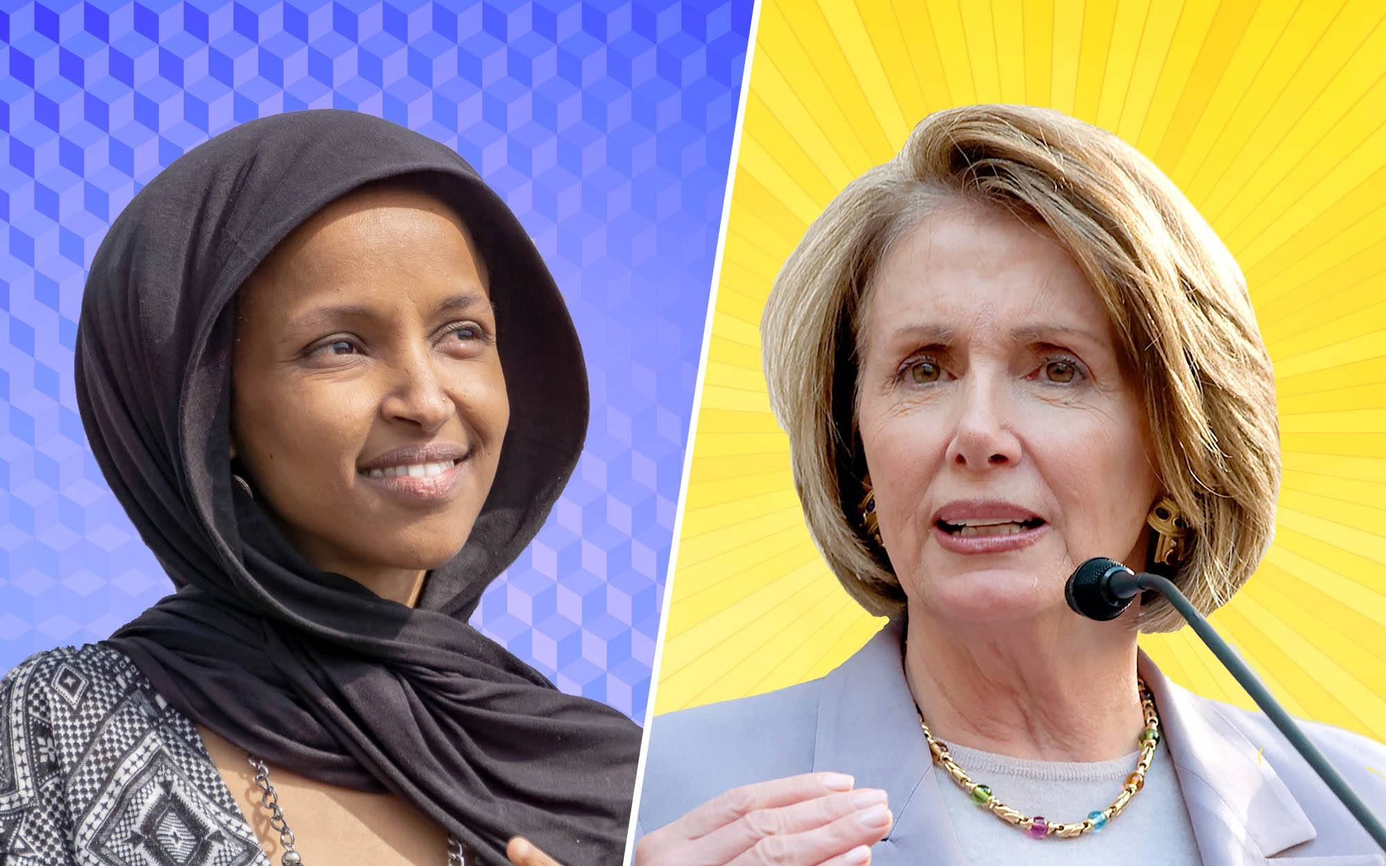 ilhan omar and nancy pelosi taunt president trump with their pictures from africa