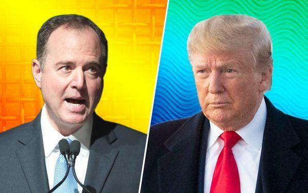 Donald Trump + Adam Schiff